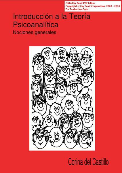 Archivo introducci n a la teor a psicoanal for Introduccion a la gastronomia pdf