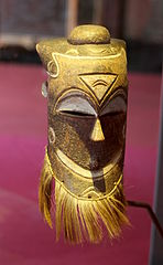 Kuba mask made from njangsa timber (D.R. Congo)