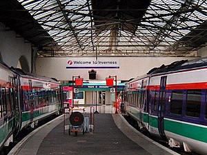 Far North Line - Inverness station: the southern terminus of the Far North Line