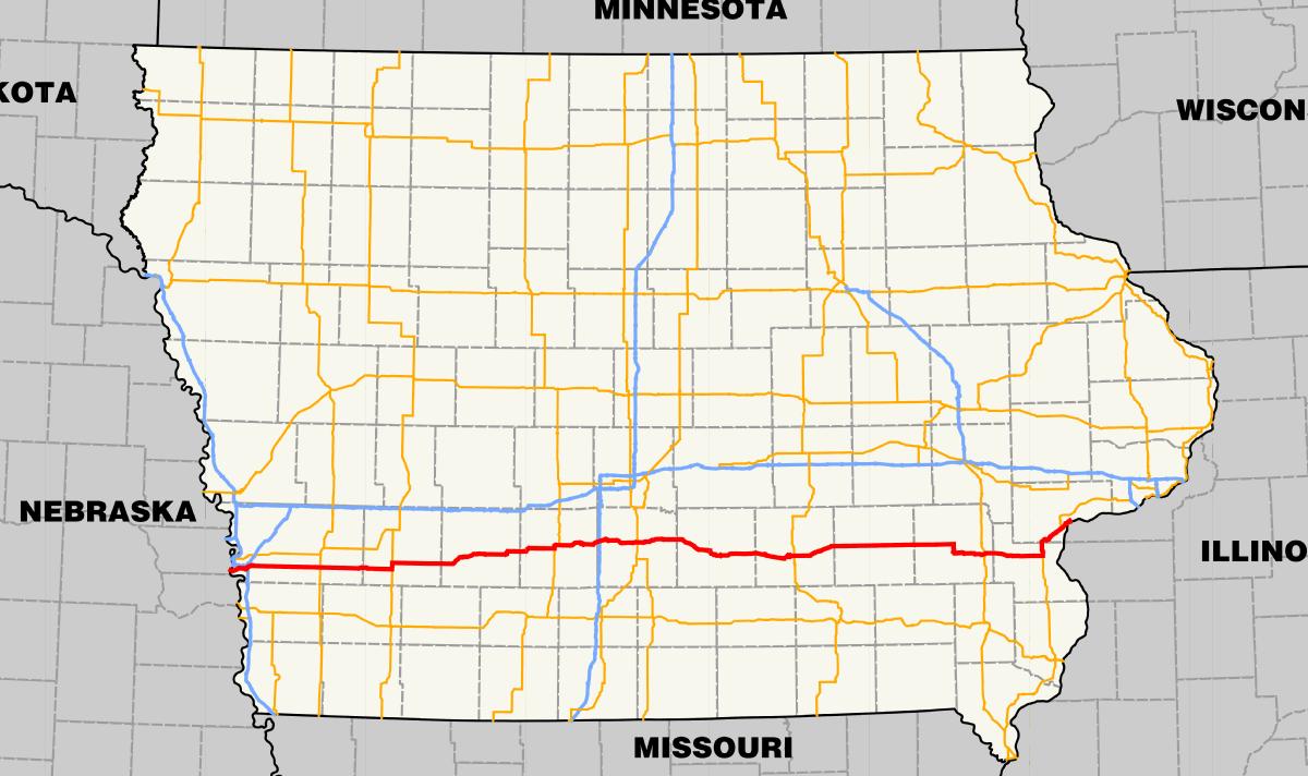 map of iowa highways – bfie.me