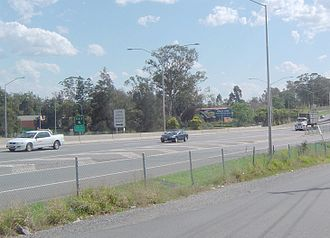 Oxley, Queensland - Ipswich Motorway in Oxley, 2008