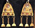 Iran sett.le, pendenti a piastra triangolare con campanelle sospese, I-II sec.JPG