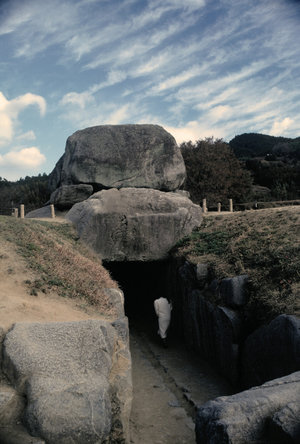 Asuka, Yamato - Ishibutai Kofun, believed to be the burial site of Soga no Umako (figure shows scale)
