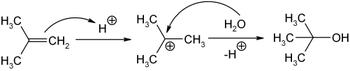 Synthese von 2-Methyl-2-propanol aus Isobuten