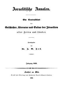 שער השבועון משנת 1839