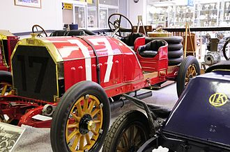 Itala - 1907 Itala Grand Prix Racer with 14.75 liter (900 cubic-inches) straight-4 engine.