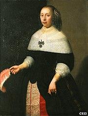 Portret van een vrouw van de familie Van Neck