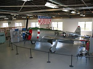 Muñiz Air National Guard Base - Muñiz's PRANG P-47 on display at Muñiz Air National Guard Base.