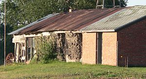 Jackson–Einspahr Sod House - View from the northeast