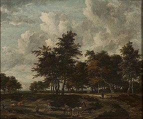 Road through a Grove