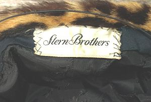 Stern's - Stern Brothers label in a women's jaguar cap (c. 1975)