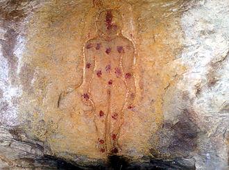 Coastal Andhra - Jain Tirthankara Image at Rockcut Caves of Ghanikonda in Ramatheertham.