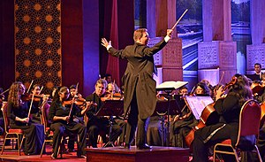 James Ross (conductor) - James Ross conducting the first orchestral concert at Nelum Pokuna Theatre, Colombo, with The Commonwealth Festival Orchestra and Symphony Orchestra of Sri Lanka