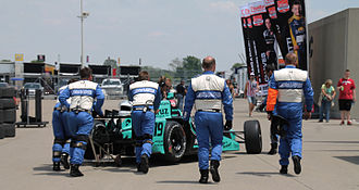 Dale Coyne Racing - James Davison's car goes back to the garage at the 2015 Indianapolis 500.
