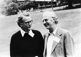 James Eells (left) and Nicolaas Kuiper at the Chern Symposium 1979 in Berkeley.jpg