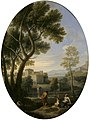 Jan Frans van Bloemen (1662-1749) - A Classical Landscape with a Man and Two Women Conversing, a Villa in the Distance - 608990 - National Trust.jpg