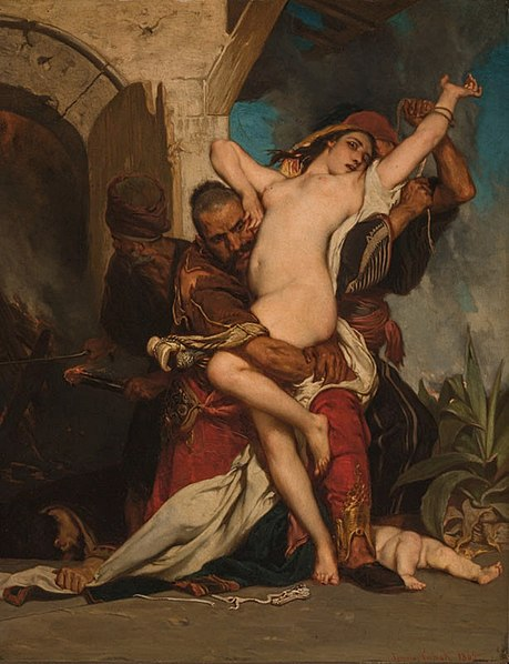 File:Jaroslav Čermák - (Czech, 1830-1878) - The Abduction of a Herzegovenian Woman, 1861 - Oil on canvas, 98 1-2 x 75 in.jpg