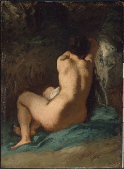 Jean-François Millet- Seated Nude
