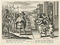 Jefta wordt door zijn dochter verwelkomd Geschiedenis van Jefta (serietitel), RP-P-1886-A-10910.jpg