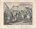 Jiří Adam von Gashin, hrabě ve Fryštátě na nádvoří zámku před švédským králem Karlem XII.jpg