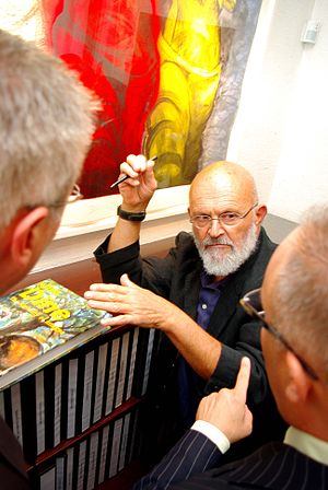 Jim Dine - Dine at the Galerie de Bellefeuille, Westmount, Quebec, Canada, 2009