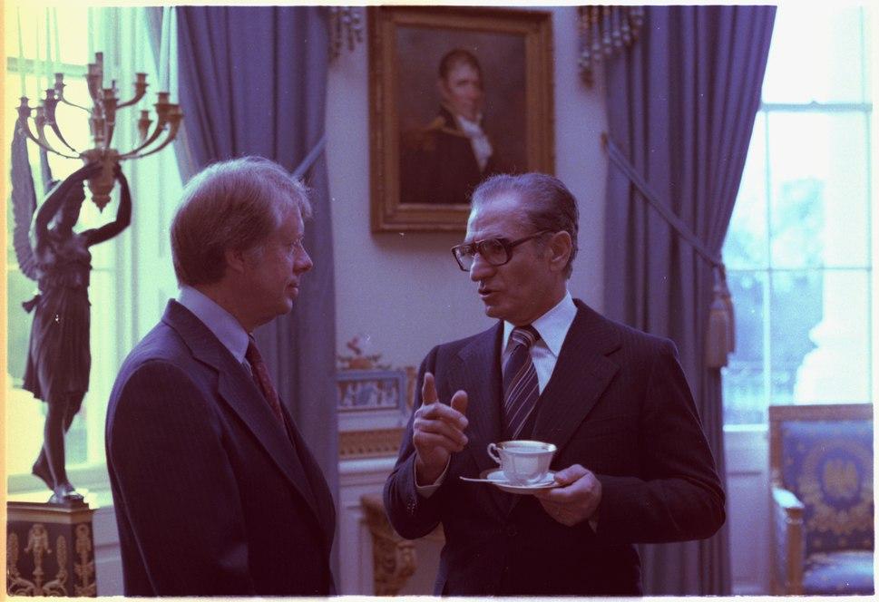 Jimmy Carter and the Shah of Iran - NARA - 176858