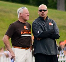 Jimmy Haslam and Mike Pettine at 2014 Browns Training Camp.jpg