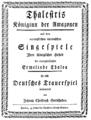 Johann Christoph Gottsched - Thalestris Königinn der Amazonen - titlepage - Zwickau 1766.png
