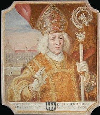Prince-Bishopric of Freising - Prince-Bishop Johann Franz Ecker, 1696-1727