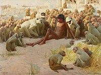 John Charles Dollman - Mowgli made leader of the Bandar Log.jpg