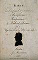 John Coakley Lettsom. Aquatint silhouette, 1801. Wellcome V0003523.jpg