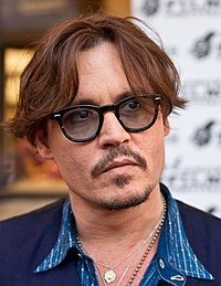 Johnny Depp in a film premiere.