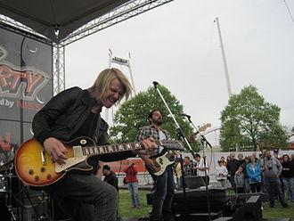 Starfield (band) - Jon Neufeld performing in 2010