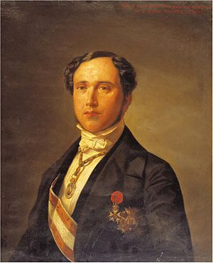 Juan Donoso Cortés - Juan Donso Cortés portrayed with his orders and decorations.