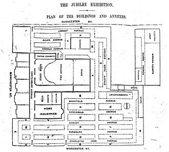 Civic, Christchurch - Plan for the jubilee exhibition