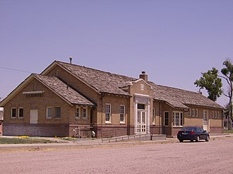 Julesburg, Colorado - Former Union Pacific station is now a museum, 2007