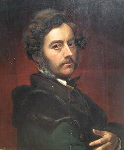 Julius Huebner Selbstportrait 1859