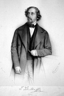 Julius Schulhoff, Lithographie von August Prinzhofer, 1850 (Quelle: Wikimedia)