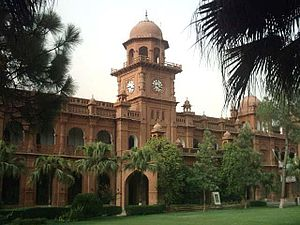 English: The Punjab University Old Campus Buil...