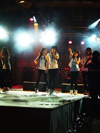 Kara (South Korean band) - Kara and after school performing at the Hanyang University Festival, 2009