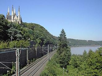West Rhine Railway - West Rhine railway, near Remagen