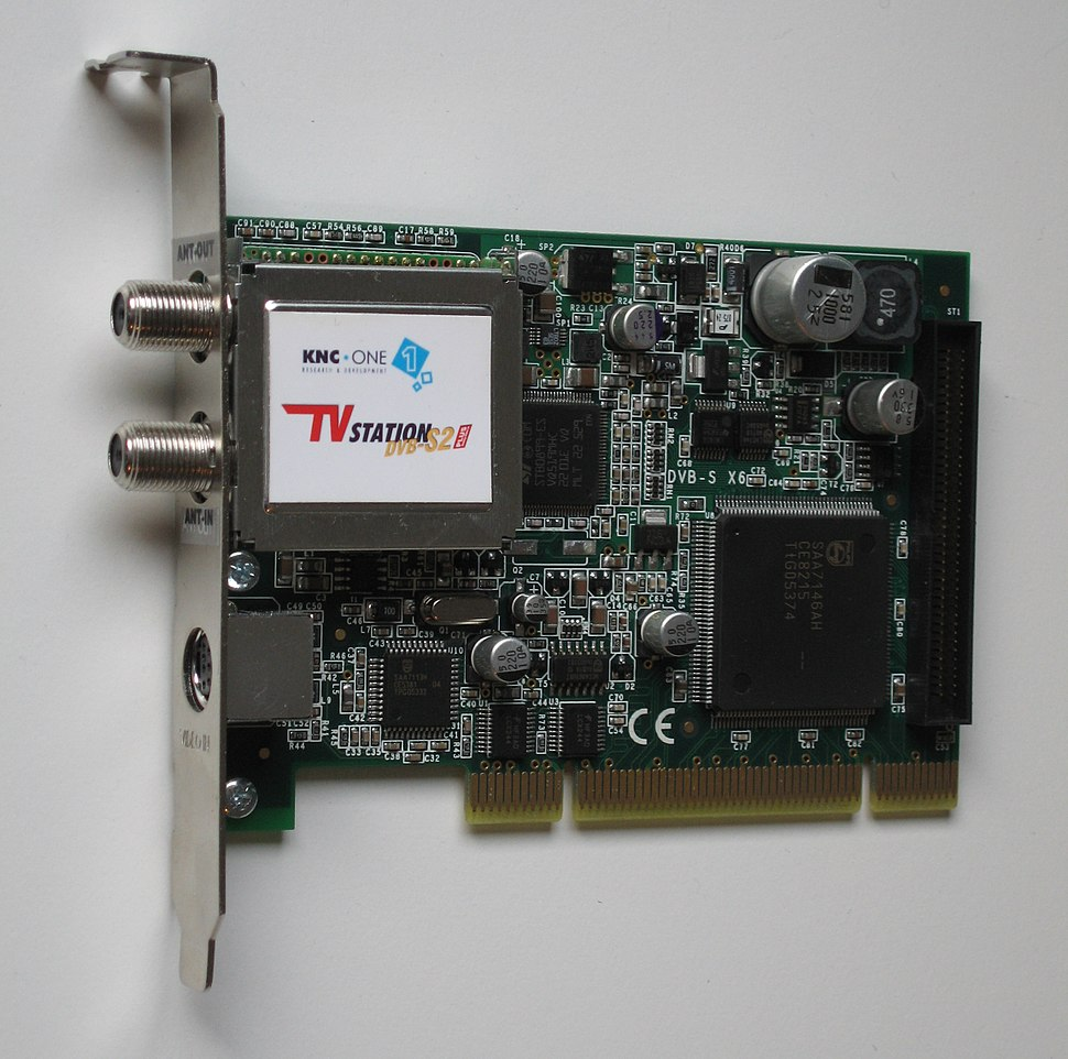 KNCone TV Station DVBS2 PLUS pci card front 0595 by HDTVTotalDOTcom