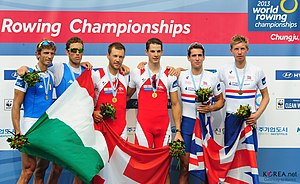 2013 World Rowing Championships - Men's lightweight pair (LM2-) medallists