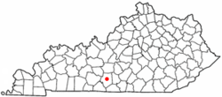 Location of Glasgow, Kentucky