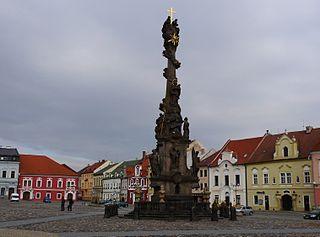 Holy Trinity column in Kadaň
