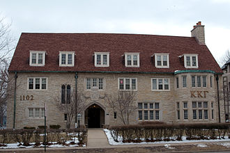 Fraternities and sororities - The Kappa Kappa Gamma chapter house at the University of Illinois