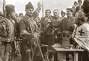 A still frame from the film The Life and Deeds of the Immortal Leader Karađorđe