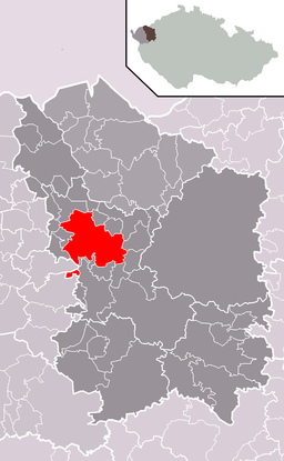 Location in Karlovy Vary District