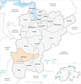 Karte Gemeinde Göschenen 2007