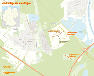 Mainflingen transmitter - Map of the Mainflingen transmitter